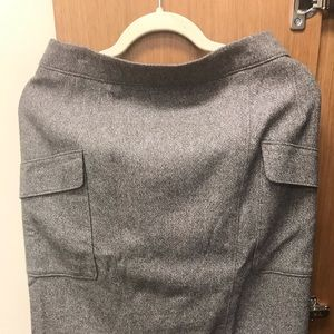 Ann Taylor tweed pencil skirt with cargo pockets